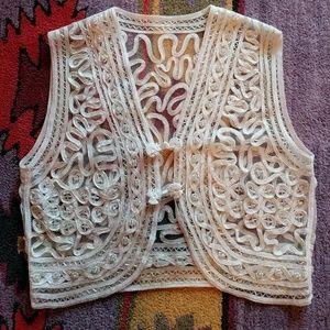 Gorgeous Vintage Beaded Soutache Vest
